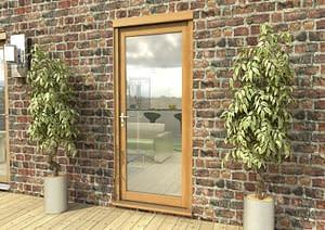 "33"" Aspect Oak Unfinished Single Door - External Shot"