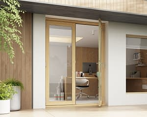 1500mm Horizon Unfinished French Doors - Open