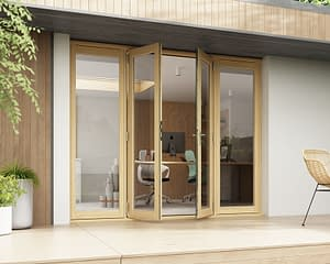 2400mm Horizon Unfinished French Doors - Open