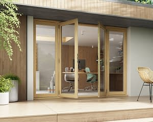 2700mm Horizon Unfinished French Doors - Open