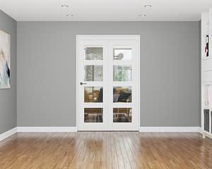 2 Door Affinity White Primed 4 Light Internal Bifold