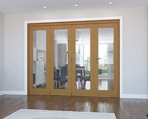4 Door Vision Fully Finished Oak Internal Bifold - Closed
