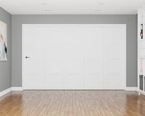 5 Door Repute White Primed 4 Panel Internal Bifold