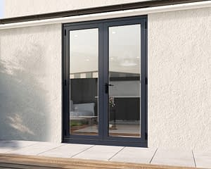 1500mm Revere Grey French - Closed