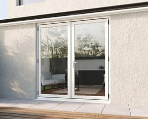 2000mm Revere White French - Closed