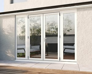 2700mm Revere White French - Closed