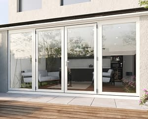 4000mm Revere White French - Closed