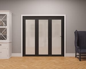 3 Door Vision Heritage 1 Light Frosted Internal Bifold - Closed