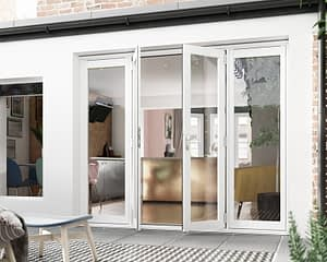 2400mm Icon White French Doors - Open