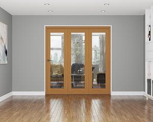 3 Door Affinity Fully Finished Oak Internal Bifold