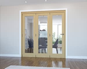 3 Door Vision Unfinished Oak Internal Bifold - Closed