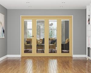 4 Door Repute Unfinished Oak Internal Bifold