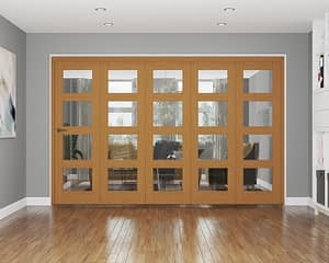 5 Door Repute Fully Finished Oak 4 Light Internal Bifold
