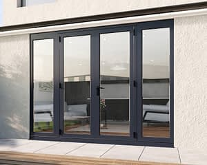 2700mm Revere Grey French - Closed