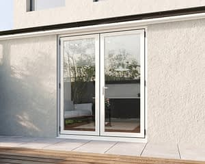1800mm Revere White French - Closed