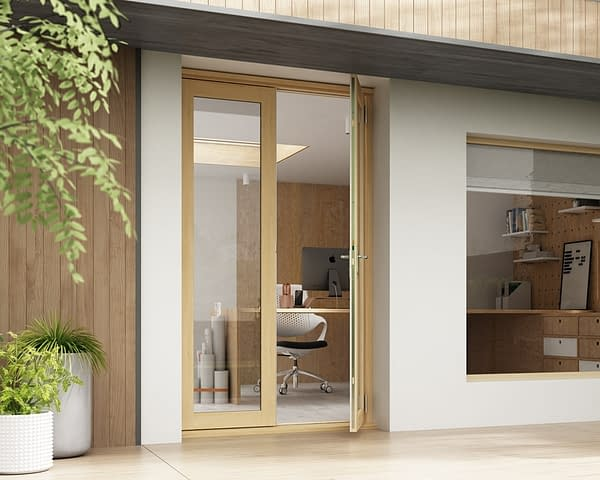 1200mm Horizon Unfinished French Doors - Open
