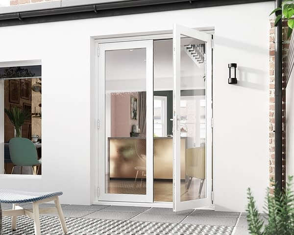 1500mm Icon White French Doors - Open