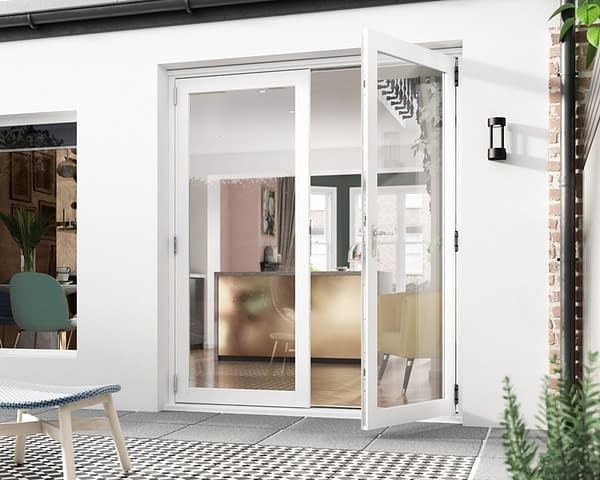 1800mm Icon White French Doors - Open
