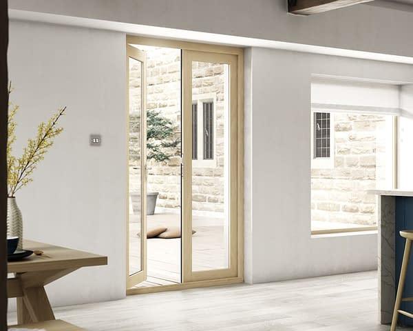 1200mm Evolve Oak Unfinished French Doors - Internal Shot