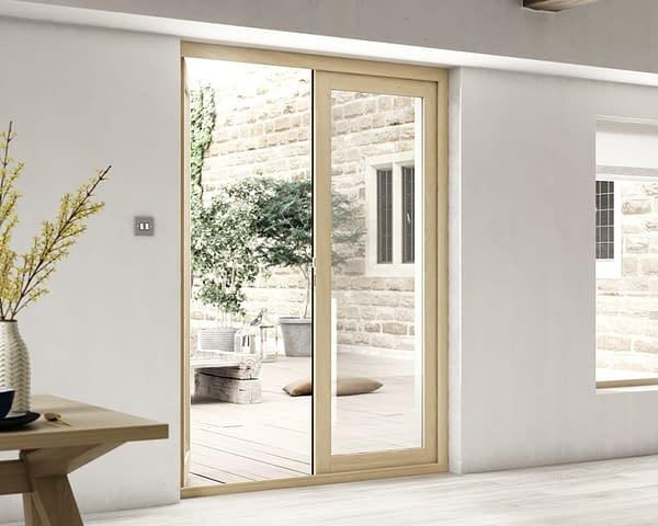 1500mm Evolve Oak Unfinished French Doors - Internal Shot