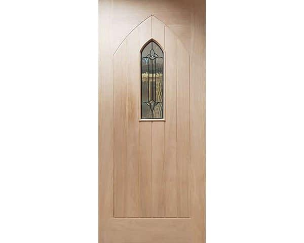 Westminster Unfinished Oak External Front Door - Cropped