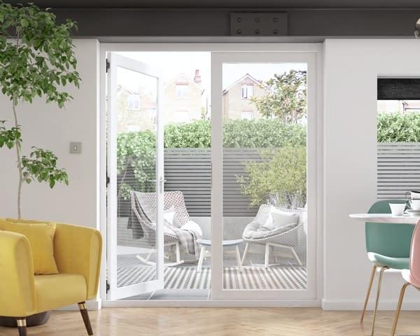 1800mm Icon White French Doors - Internal Shot