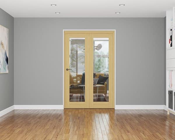 2 Door Affinity Unfinished Oak Internal Bifold