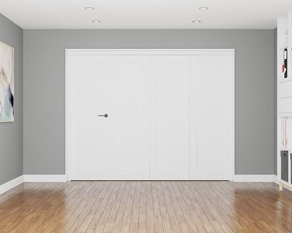 4 Door Repute White Primed 1 Panel Internal Bifold