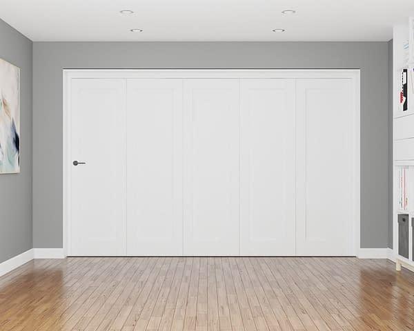 5 Door Repute White Primed 1 Panel Internal Bifold