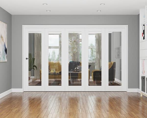 5 Door Repute White Primed Internal Bifold