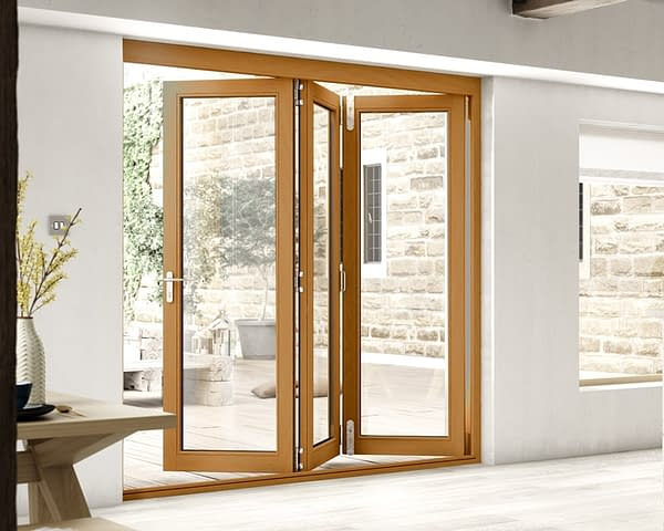 2100mm Icon Solid Oak Fully Finished Bifold - Internal Shot