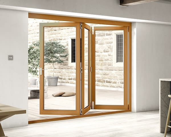2700mm Icon Solid Oak Fully Finished Bifold - Internal Shot