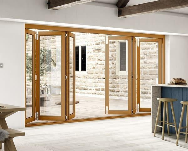 4200mm Icon Solid Oak Fully Finished Bifold - Internal Shot