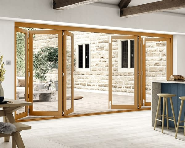 4800mm Icon Solid Oak Fully Finished Bifold - Internal Shot