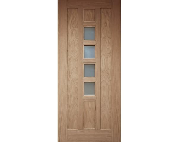 Newton Unfinished Oak External Front Door - Internal Face