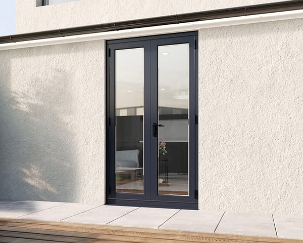 1200mm Revere Grey French - Closed