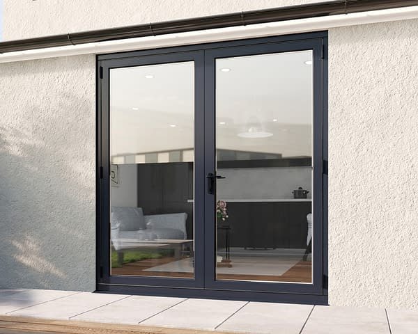 2000mm Revere Grey French - Closed
