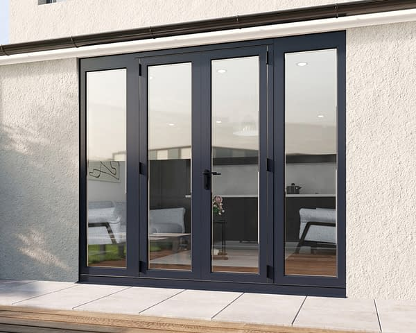 2400mm Revere Grey French - Closed
