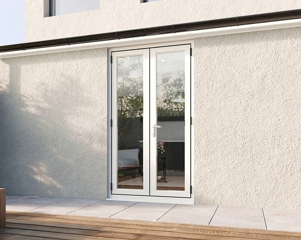 1200mm Revere White French - Closed