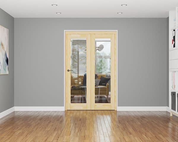 2 Door Affinity Unfinished Pine Internal Bifold