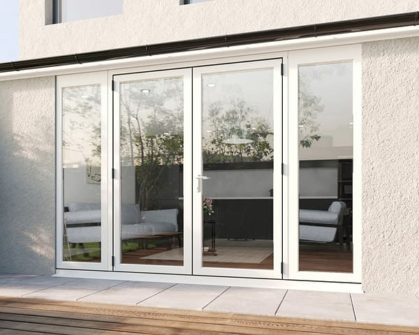 3000mm Revere White French - Closed