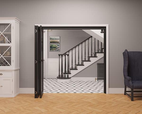 3 Door Vision Heritage 1 Light Internal Bifold - Open