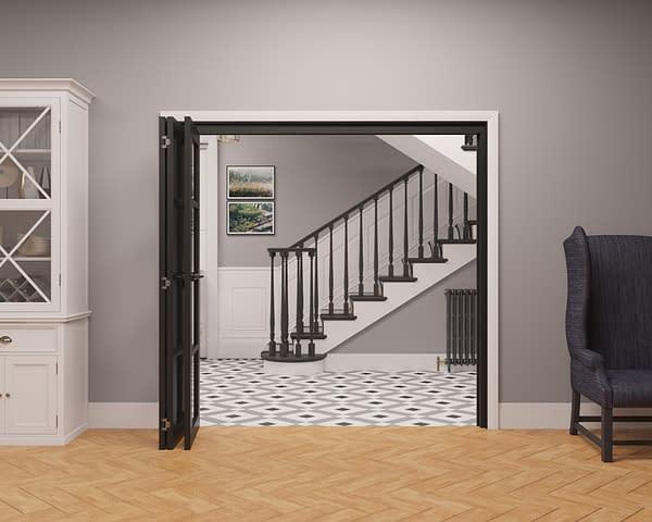 3 Door Vision Heritage 4 Light Internal Bifold - Open