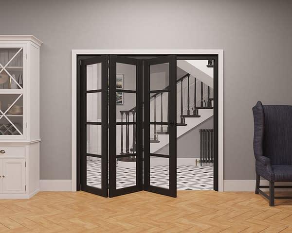 3 Door Vision Heritage 4 Light Internal Bifold - Part Open