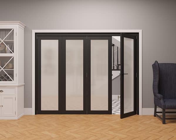 4 Door Vision Heritage 1 Light Frosted Internal Bifold - Part Open