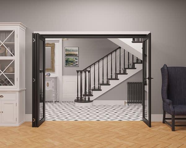 4 Door Vision Heritage 1 Light Internal Bifold - Open