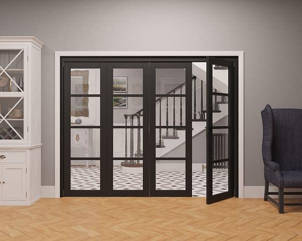 4 Door Vision Heritage 4 Light Internal Bifold - Part Open