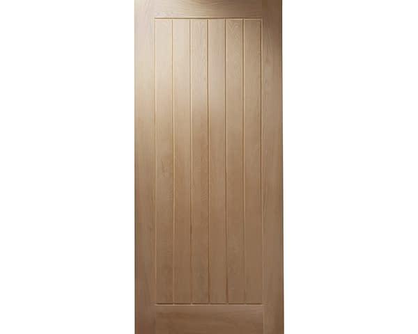 Cottage Unfinished Oak External Front Door - Cutout