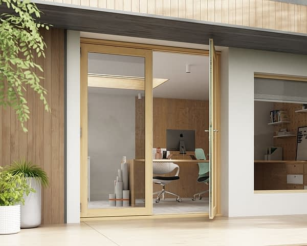 1800mm Horizon Unfinished French Doors - Open