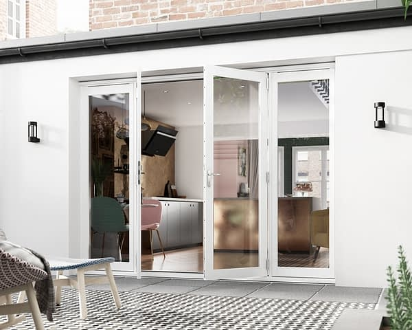 2700mm Icon White French Doors - Open